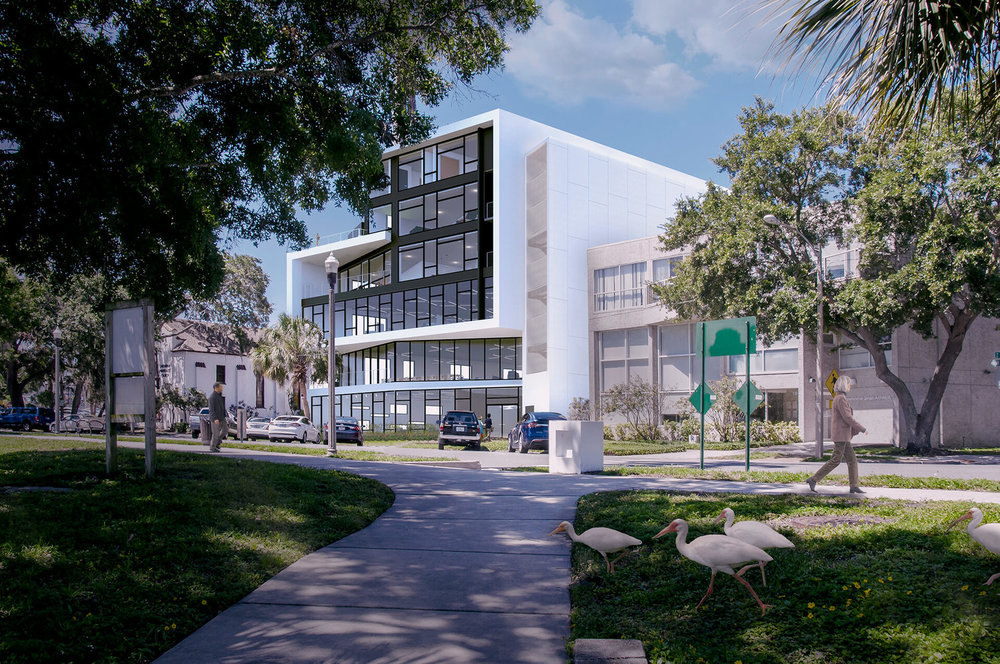 Rendering of Wannemacher Jensen's expanded headquarters in downtown st pete