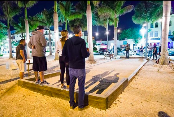 Bocce courts at Intermezzo in Downtown St Petersburg, FL