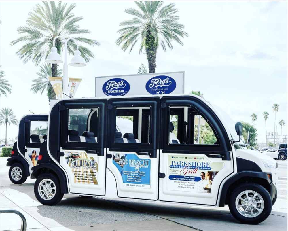 The Nickel Ride uses eco-friendly electric vehicles to service Downtown St. Pete.