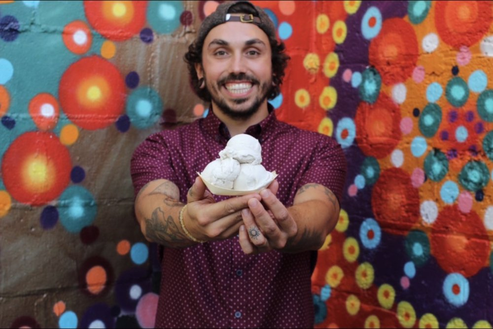 Matthew Matchin, owner of Plant+Love Ice Cream