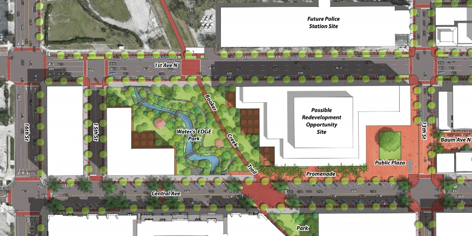 A vision for the site was conceptualized in the EDGE District Master Plan released in December 2016.