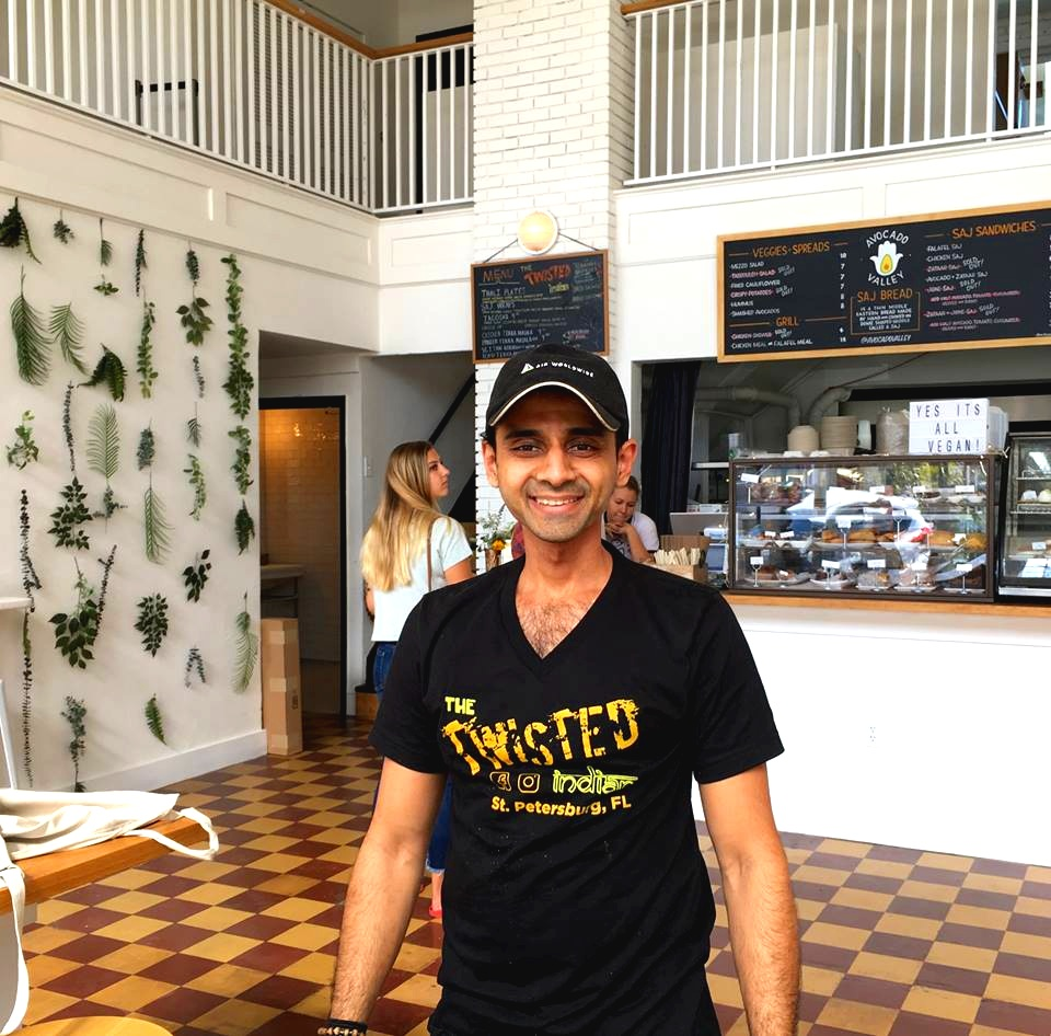 Lokesh Vale, owner of The Twisted Indian located at 1113 Central Avenue inside Baum Avenue Market