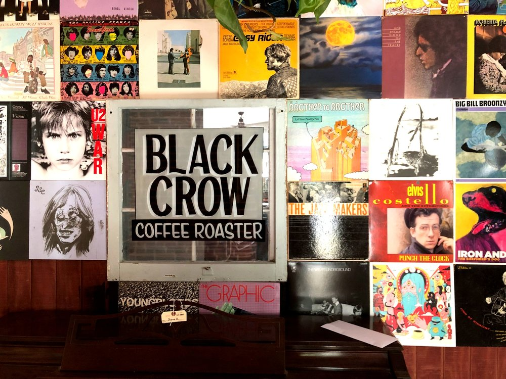 After opening in 2015, Black Crow Coffee established itself as a creative community space.