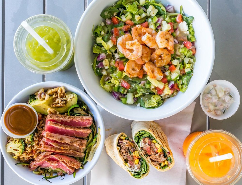SoFresh offers bowls, salads, wraps, smoothies, and fresh-pressed juices.