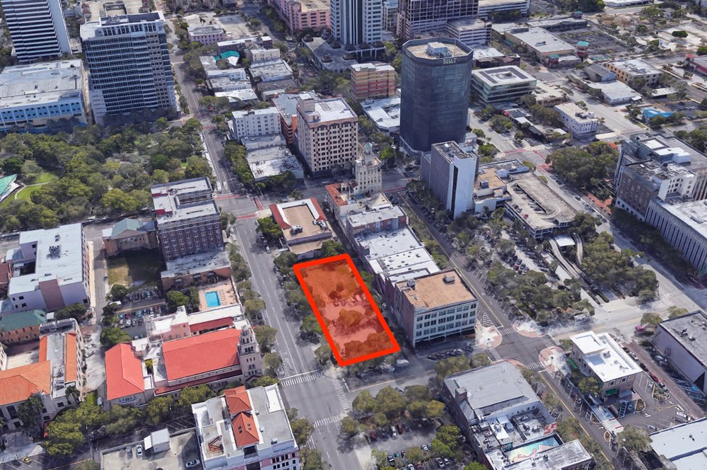 The 0.65 acre site at the corner of 1st Avenue N and 5th Street N is under contract to The DeNunzio Group for $5.3M.