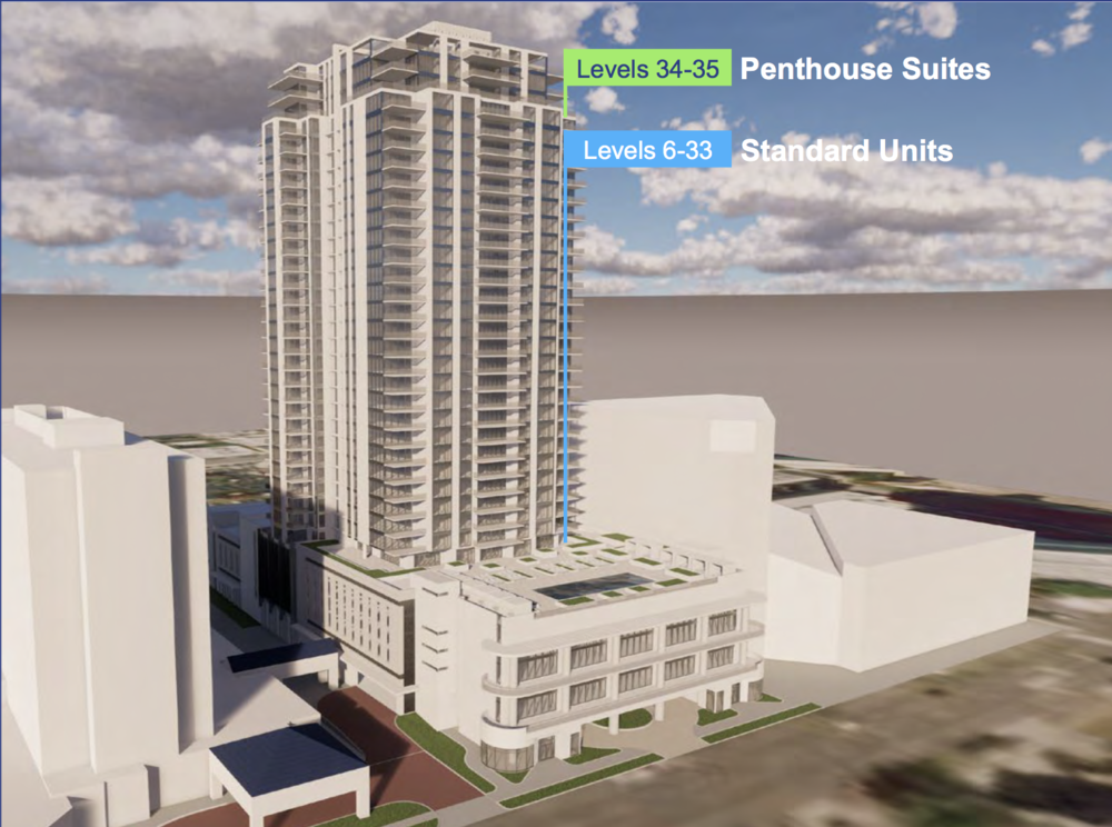 Kolter Group, the developers of the recently constructed ONE St. Petersburg building, are proposing a second condo tower just three blocks south of ONE.