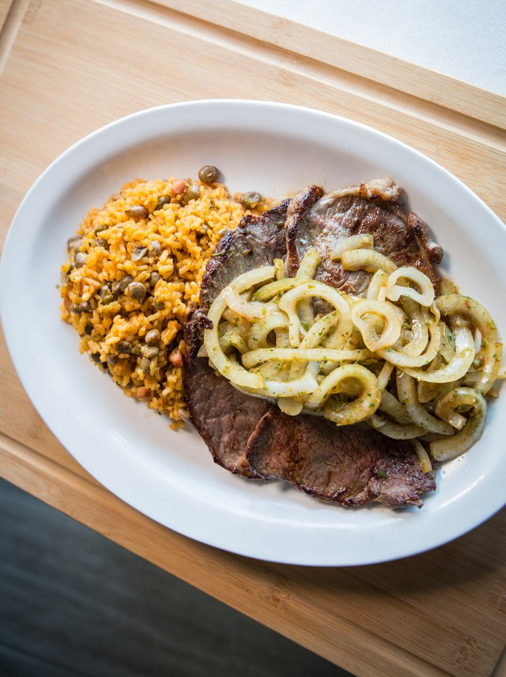 Bistec Encebollado (beefsteak with grilled onions) from WEPA!