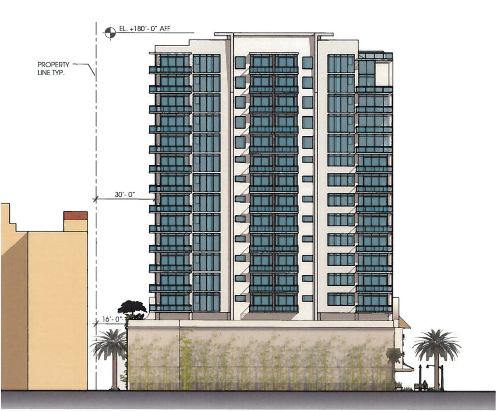 The south elevation of Blue Lotus as it is currently proposed.