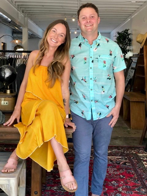 amanda henderson and matthew baker, owners of matter of fact: A curated men's shop