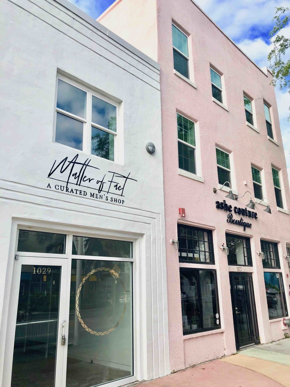 Matter of Fact is located at 1029 Central Ave, next door to Ashe Couture, a women's boutique
