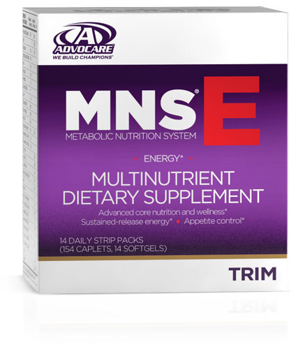 "An extra emphasis on energy.*††  MNS® E is designed as a comprehensive system with an emphasis on energy.* Five key components combine to address energy levels, core nutrition, and appetite control.* A proprietary blend of botanical extracts and nutrients are included to help ""rev up"" metabolism, while still giving you foundational nutrition for overall health and wellness.*"