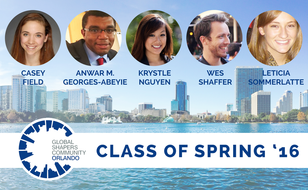 "The Orlando Hub is proud to welcome our newest members to the Global Shaper Community - an initiative of the World Economic Forum.  We welcome the class of Spring '16 - Casey Field, Anwar M. Georges-Abeyie, Krystle Nguyen, Wes Shaffer and Leticia Sommerlatte.  The incoming Shapers will also be hosting ""To Build a Home Hack-a-thon"" this Thursday at 5:30 pm to 7:30 pm at the Downtown Orlando Public Library. The purpose of the project is to engage the community on building an innovative idea towards eradicating homelessness in our city.   https://www.facebook.com/events/1765319587070739/"