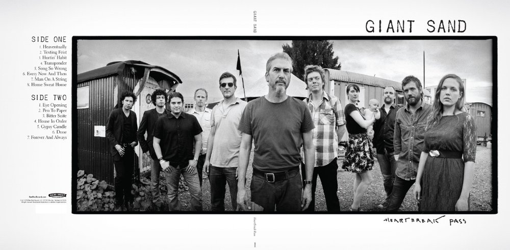 The new album, Heartbreak Pass, by seminal erosion-rock band GIANT³ SAND, marks their 30th anniversary. Individually, each track on the record looms large on its own but, when heard as one complete offering, you know that you are listening to something very, very special. The Arizona desert has long been a source of inspired minimalism for Howe Gelb, the indie rock pioneer and frontman. The album also features Jason Lytle (Grandaddy), John Parish (PJ Harvey), Steve Shelley (Sonic Youth), Grant-Lee Phillips (Grant-Lee Buffalo), Ilse DeLange + JB Meijers, ('The Common Linnets' Netherlands), Sacri Cuori (Italy) and Lovely Quinces (Croatia).