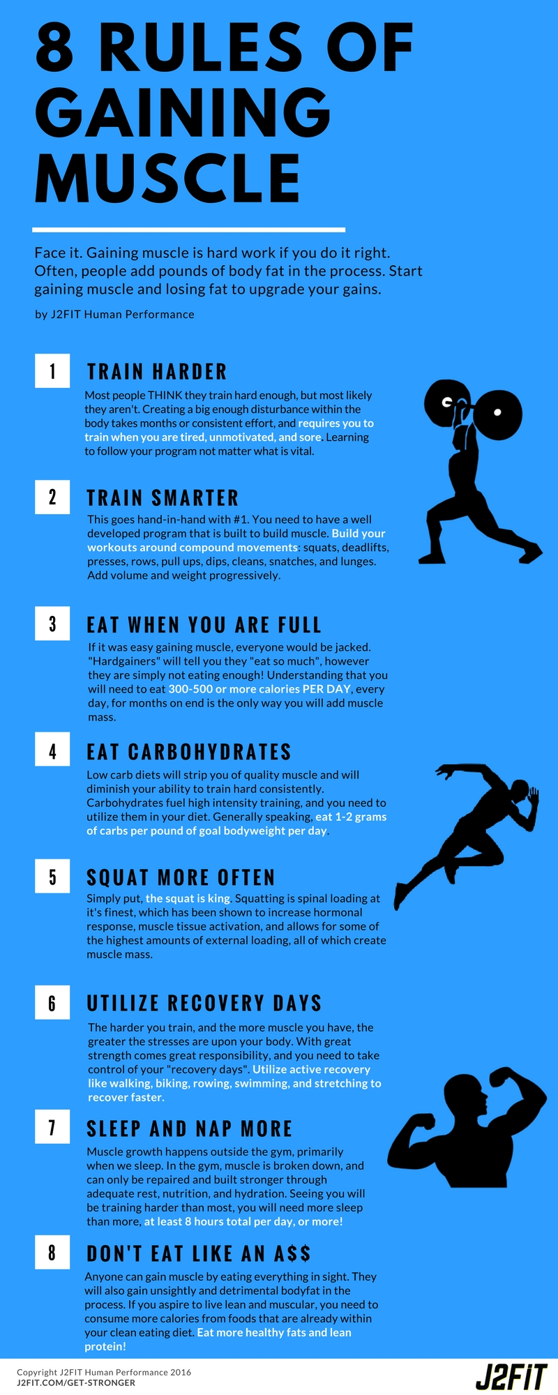 J2FIT 8 Rules of Gaining Muscle