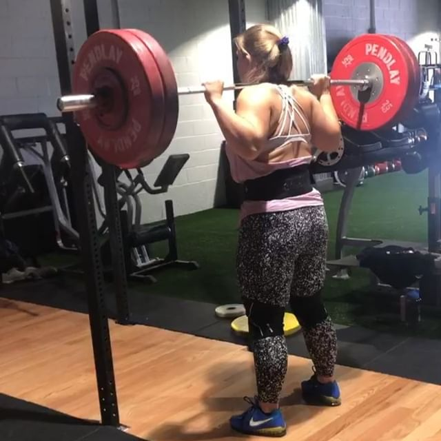 Remote lifter @gabigroszyk with her squat testing today.  _ 120kg/264lbs for 5! _ Back to the grind after successful first National Meet in March.  _ We tested her with a 90% max rep set. After failing her 5th rep she was pretty upset, so she sent her coach @mikejdewar ANOTHER test set minutes later... and hit 5 reps. Safe to say going 9 total reps at 90% means 120kg isn't her 90% anymore. _ Looking for a remote coach who will actually coach and program for YOU... and not just a template workout plan with a custom price tag? Hit us up and sign up today on our site! _ #j2fitweightlifting #backsquat #weightlifting #stronger #strengthcoach #strengthandconditioning #barbend #eleiko #eleikosport #shesquats #liftheavy #squateveryday #lululemon #lululemonleggings #yogapants #squatbooty #legday #stronger #cleanandjerk #snatch #deadlift #powerlifting #weightliftingwomen #powerliftingwomen #remotecoaching #remotecoach
