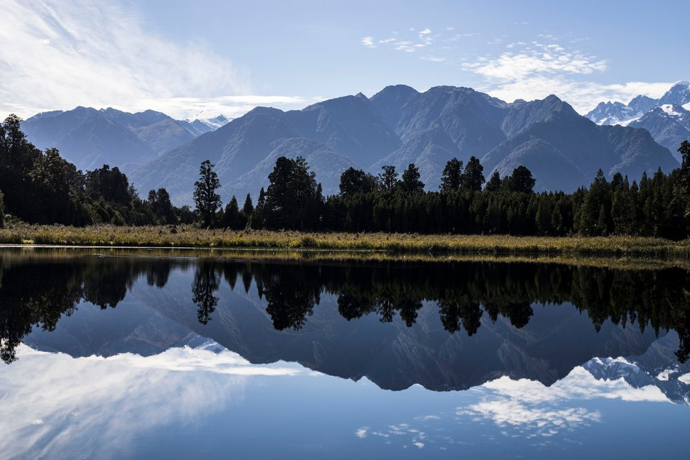 Reflection at Lake Matheson, New Zealand