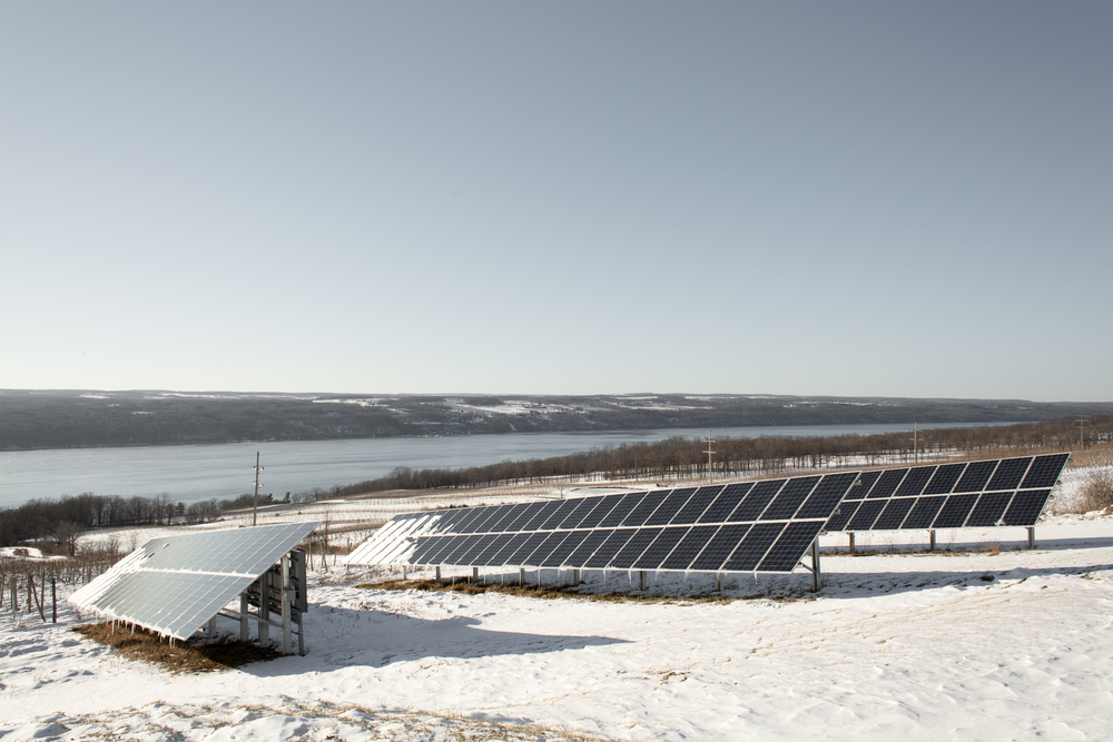 Solar power, Scenic views of Seneca Lake and Good beers ! What more could you want ?