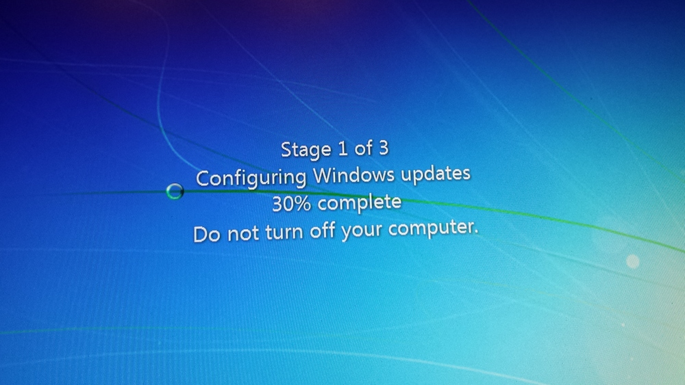 Windows updates progress