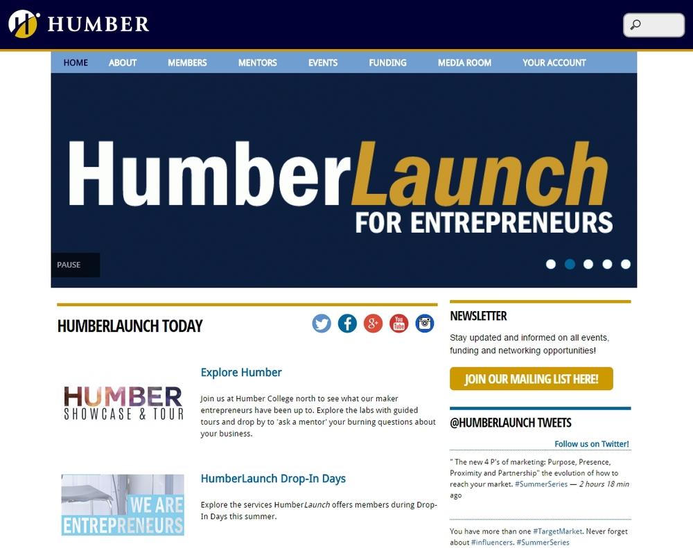 HumberLaunch website