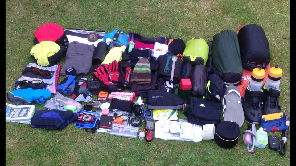30 days worth of kit for the journey.