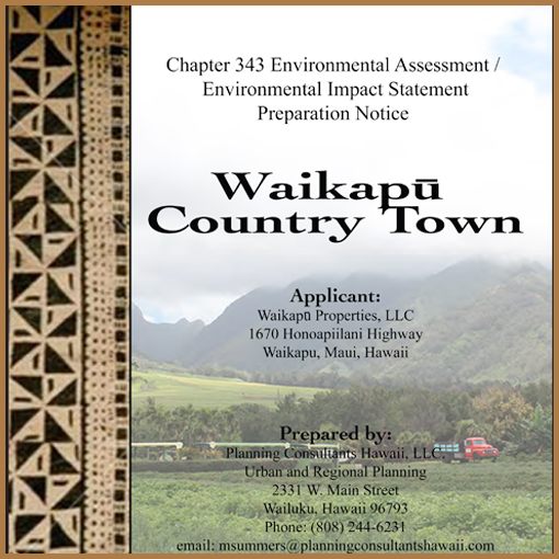 Environmental Impact Statement Preparation Notice - April, 2015