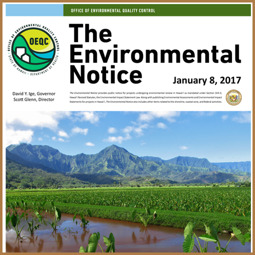 OEQC Bulletin Notice - January 18, 2017