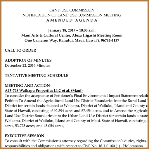 LUC Amended Agenda - January 18, 2017