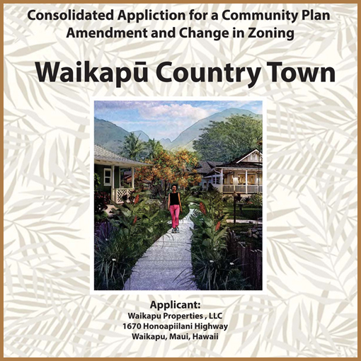 Consolidated Application for a Community Plan Amendment and Change in Zoning - March 2018