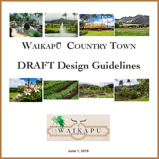 WCT Draft Design Guidelines.   June 1, 2018