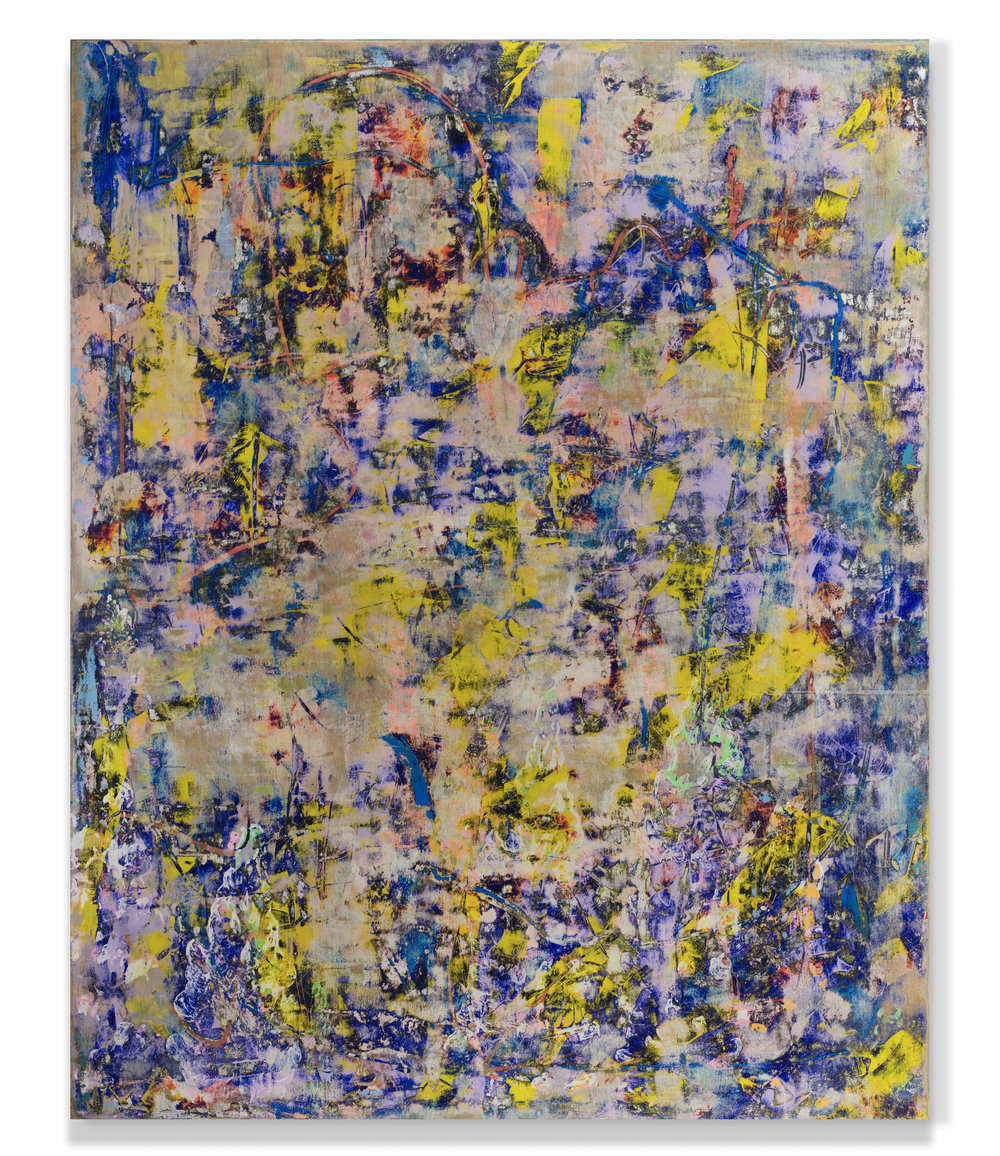 Clearing 2017 150 x 140cm acrylic on board marc blake painting