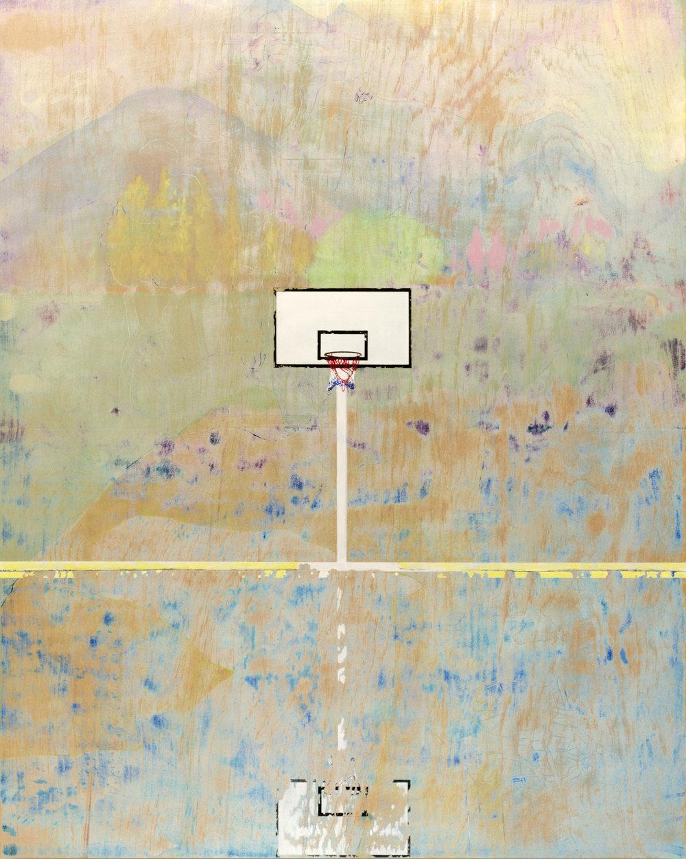 Park (2016) Acrylic, graphite, colour pencil, pigment ink on board. 100 x 80cm