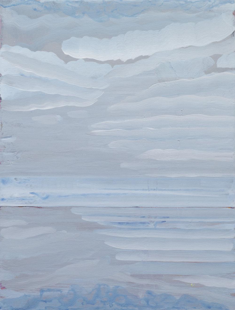E Beach (2) (2018) Acrylic on board. 50 x 38cm
