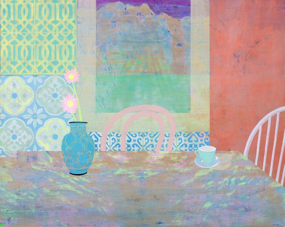 Mountain House (2017) Acrylic on board 120 x 150cm