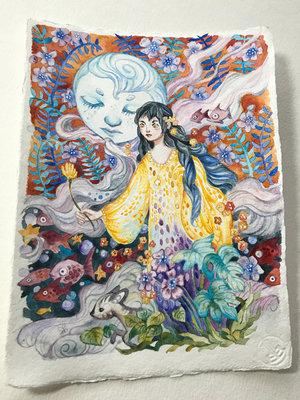 goddess watercolor painting ania mohrbacher