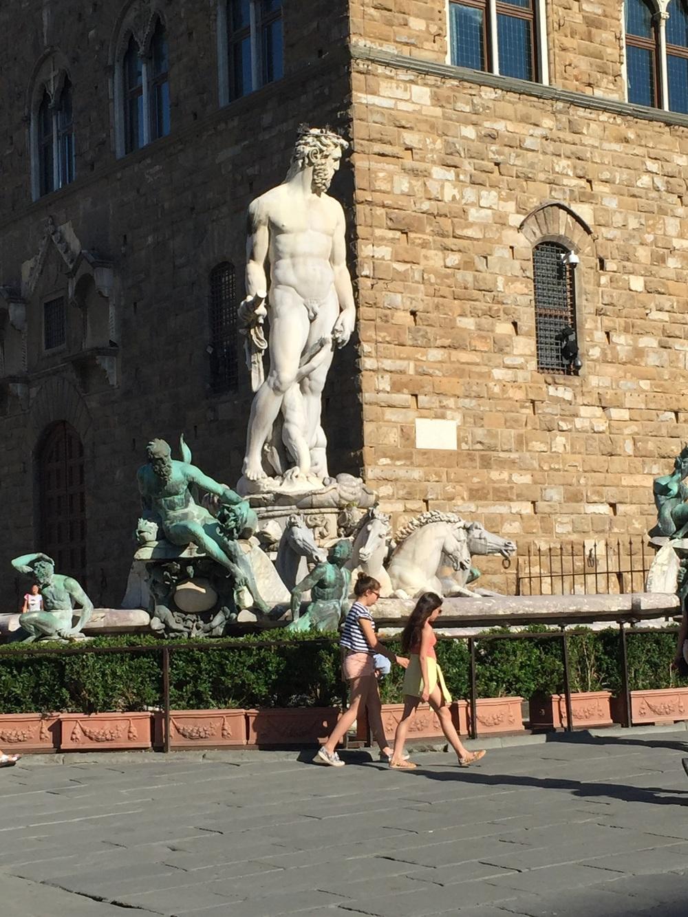 A series of statues in Piazza del Repubblico