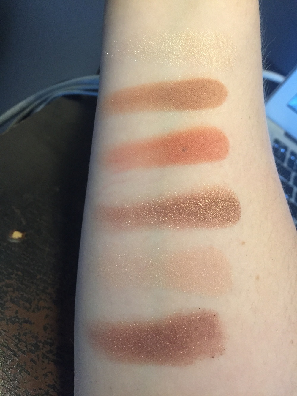 Palette swatched under fluorescent light