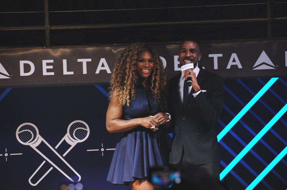 Brandon Bain and tennis great Serena Williams