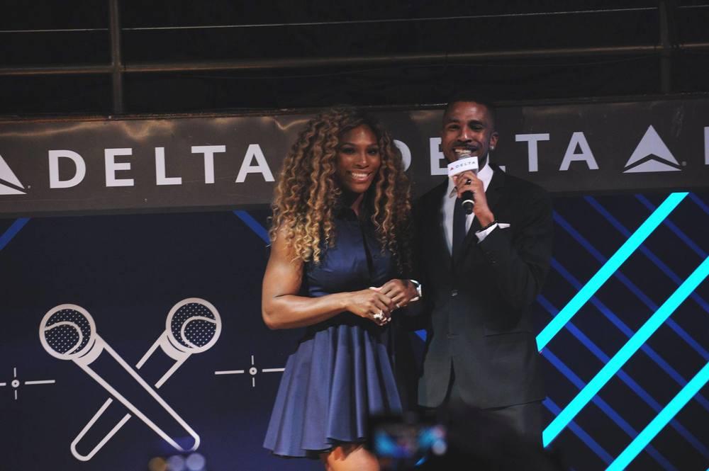 Brandon Bain and tennis great Serena Williams