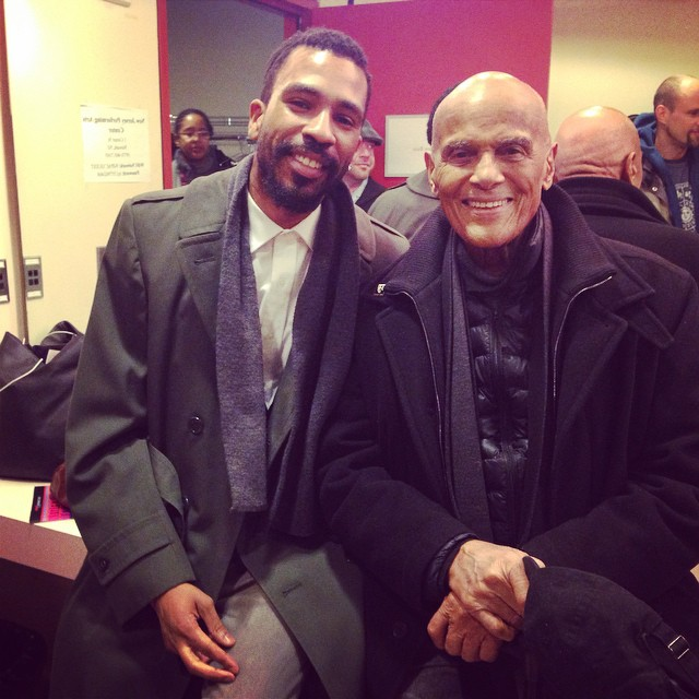 Brandon Bain and Activist/Singer Harry Belafonte