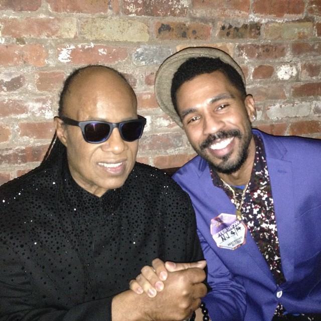 Stevie Wonder and Brandon Bain
