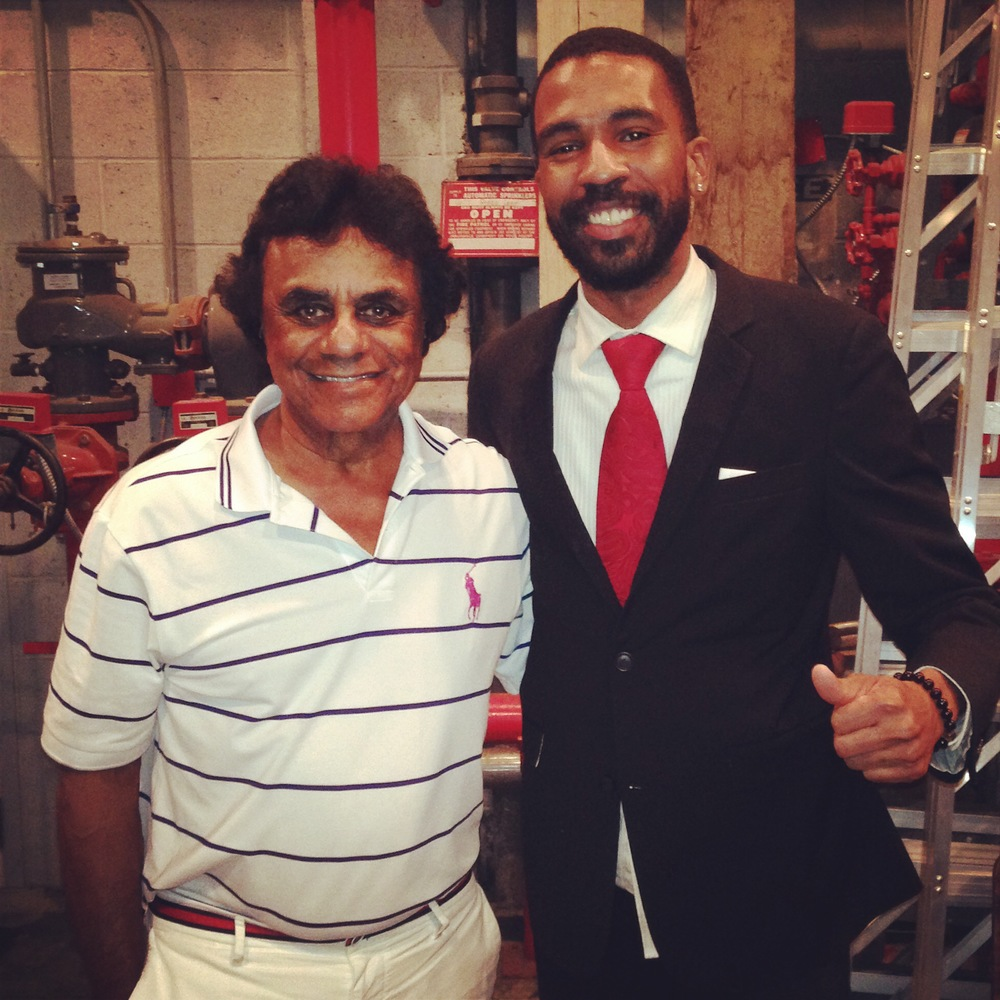 Brandon Bain and Johnny Mathis