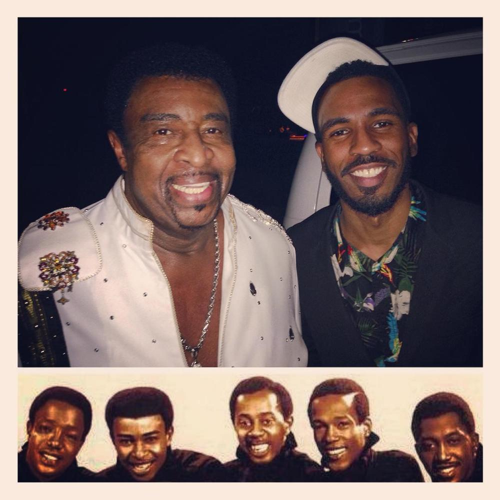 Brandon Bain and Temptations Lead Singer Dennis Edwards
