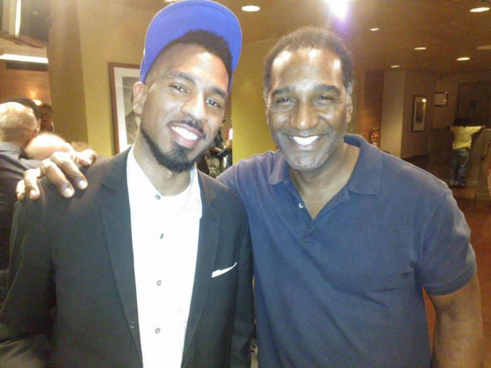 Brandon Bain and Broadway Actor Norm Lewis