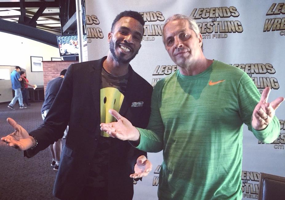 "Brandon Bain and WWE Hall of Famer Bret ""Hitman"" Hart"