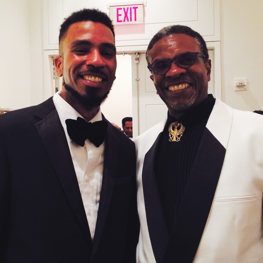 Brandon Bain and Actor/Singer Keith David
