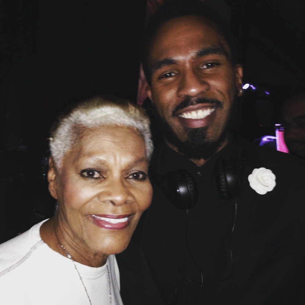 Dionne Warwick and Brandon Bain