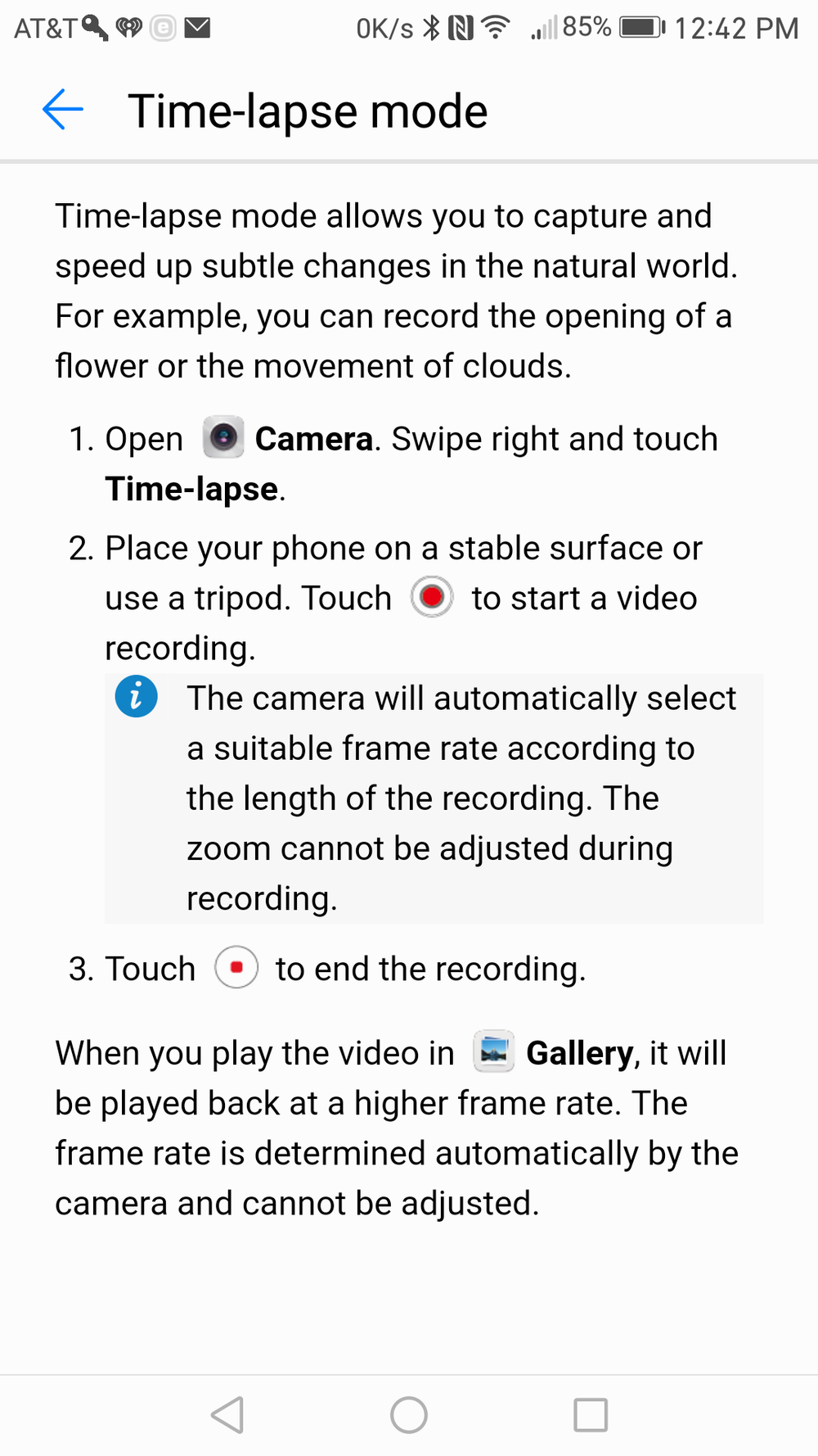 Time Lapse Instructions