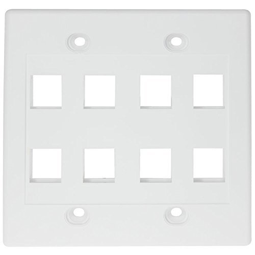RiteAV - Keystone Wall Plate Double Gang 8