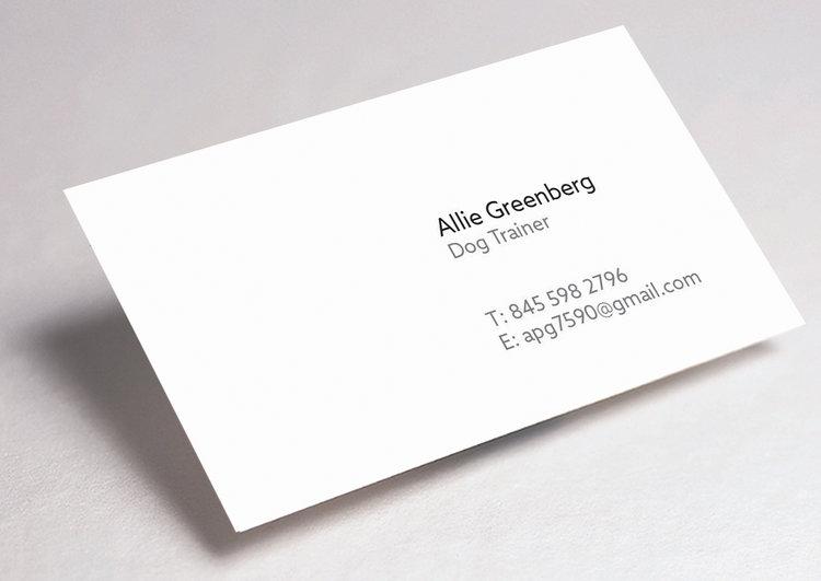 Dog trainer business card hannah greenberg dog trainer business card colourmoves