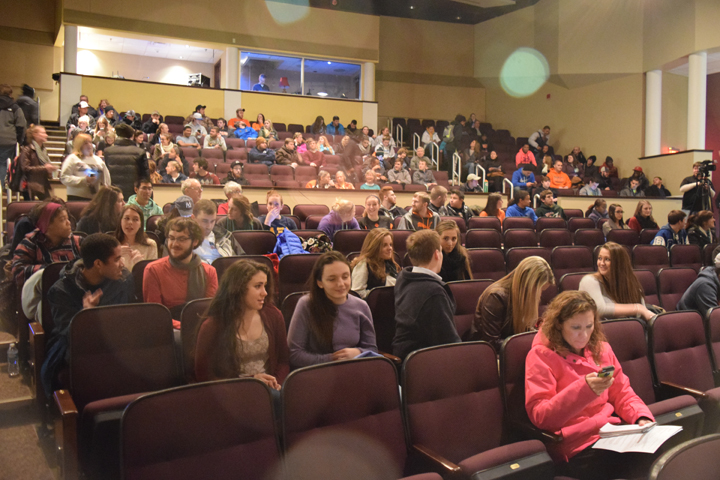 "Audience for ""Elk River Blues"" by filmmaker Mike Youngren."